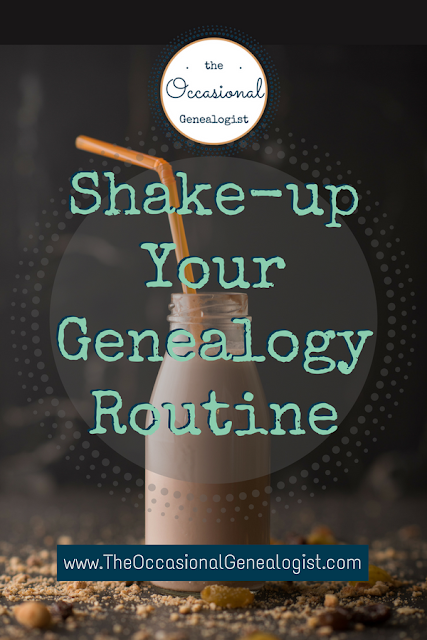 Genealogy research stuck? Here are five suggestions to kick start your family history research when you feel uninspired.  The Occasional Genealogist #genealogy #familyhistory