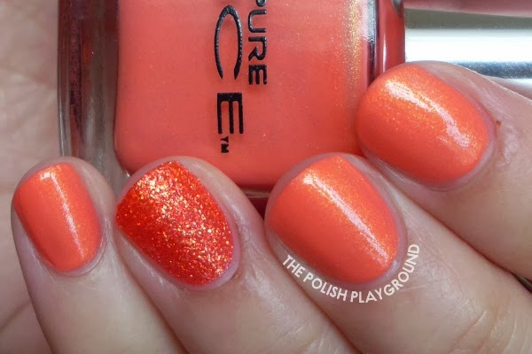 The Polish Playground Coral Shimmer With Texture Accent