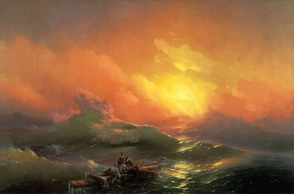 9 вал - картина Айвазовского