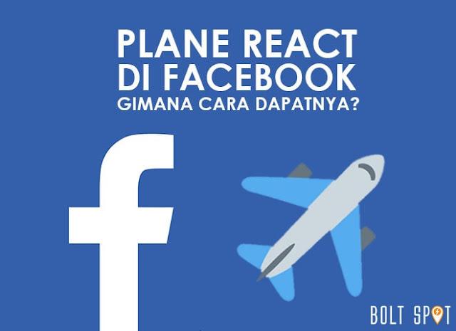 Cara Mendapatkan Plane React di Facebook