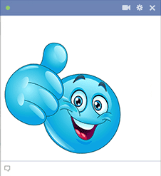 Blue smiley for Facebook