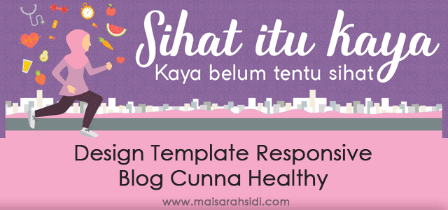 Design Template Responsive Blog Cunna Healthy