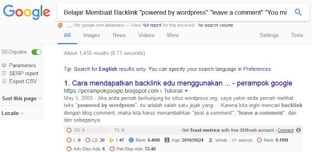 Backlink Berkualitas & Gratis Dengan Linksearching