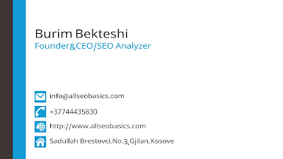Bussins Card-Burim Bekteshi-SEO Basics