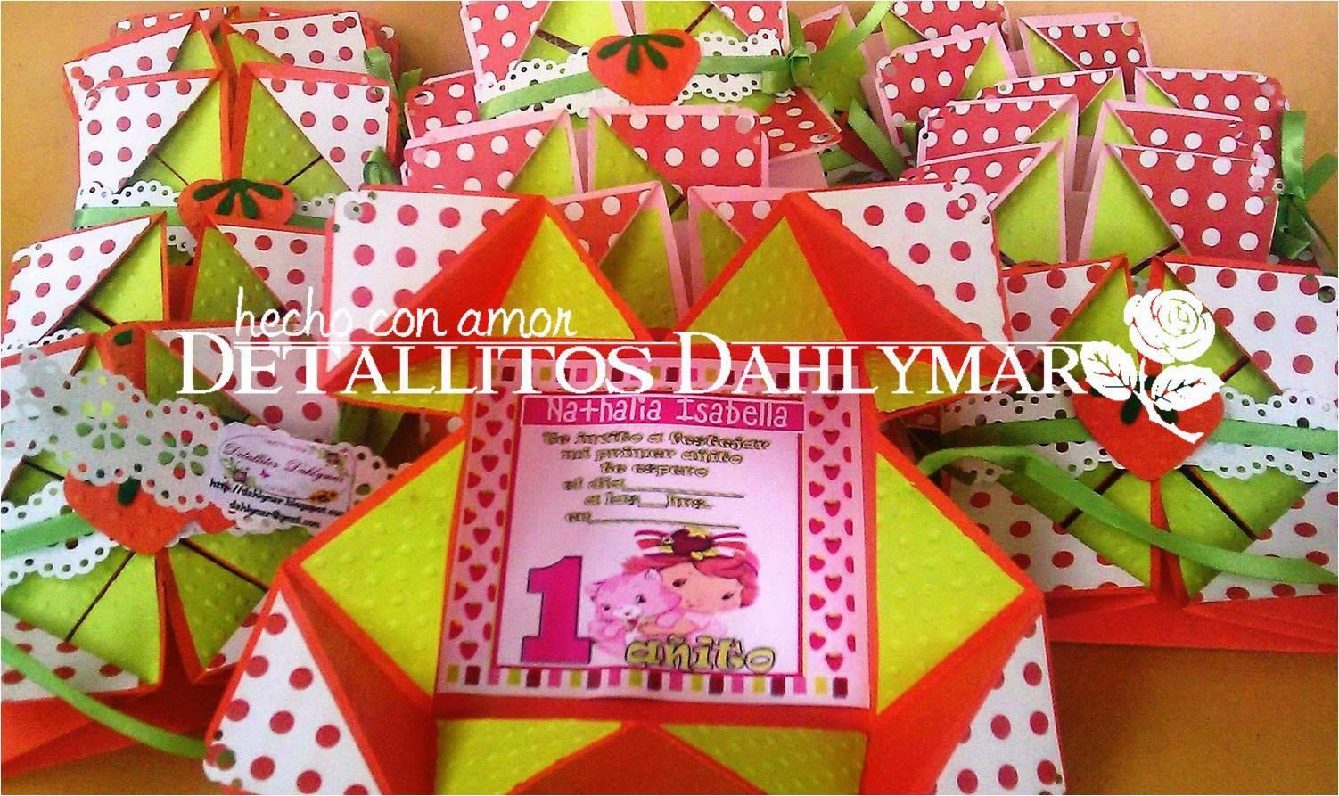 63232a925 Aqui traigo para compartiles mi ultimo encargo: Unas tarjetas de invitacion  de Frutillita Bebe (Baby Strawberry Shortcake)