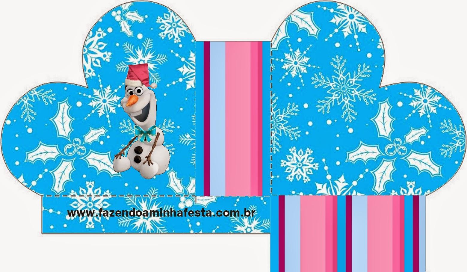 Caja abierta en forma de corazón de Frozen para Navidad.