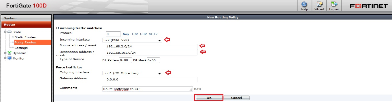 Basic IT Informations: Fortigate - How to configure Policy Routing