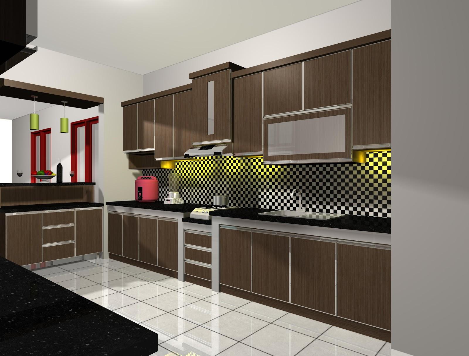 Desain Interior Dapur Rumah Modern  Terbaru 2016