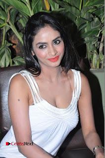 Actress Model Pooja Sri Stills in White Short Dress at F Club pre soft Launch  0163.JPG