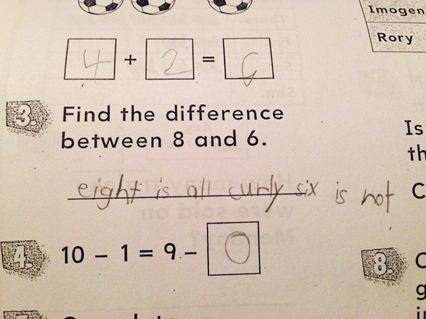50 Hilarious Photos Of People Who Took Instructions Too Literally - 8-Year-Old Boy Takes His Homework Directions Literally