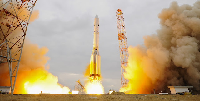 ExoMars 2016 liftoff. Credit: ESA–Stephane Corvaja