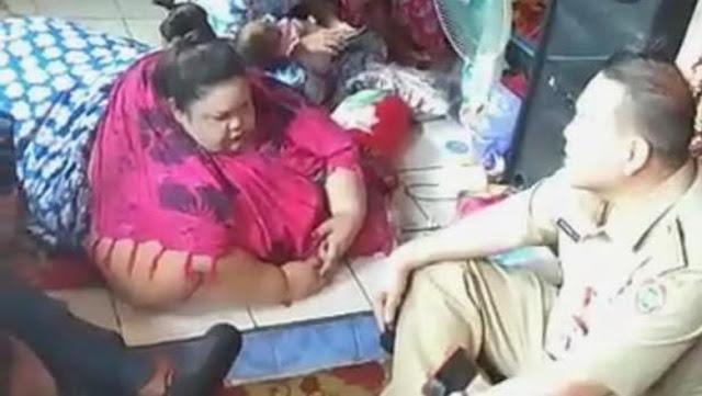 Ambulans Tak Muat, Wanita 350 Kg di Kalteng akan Dibawa Truk Damkar