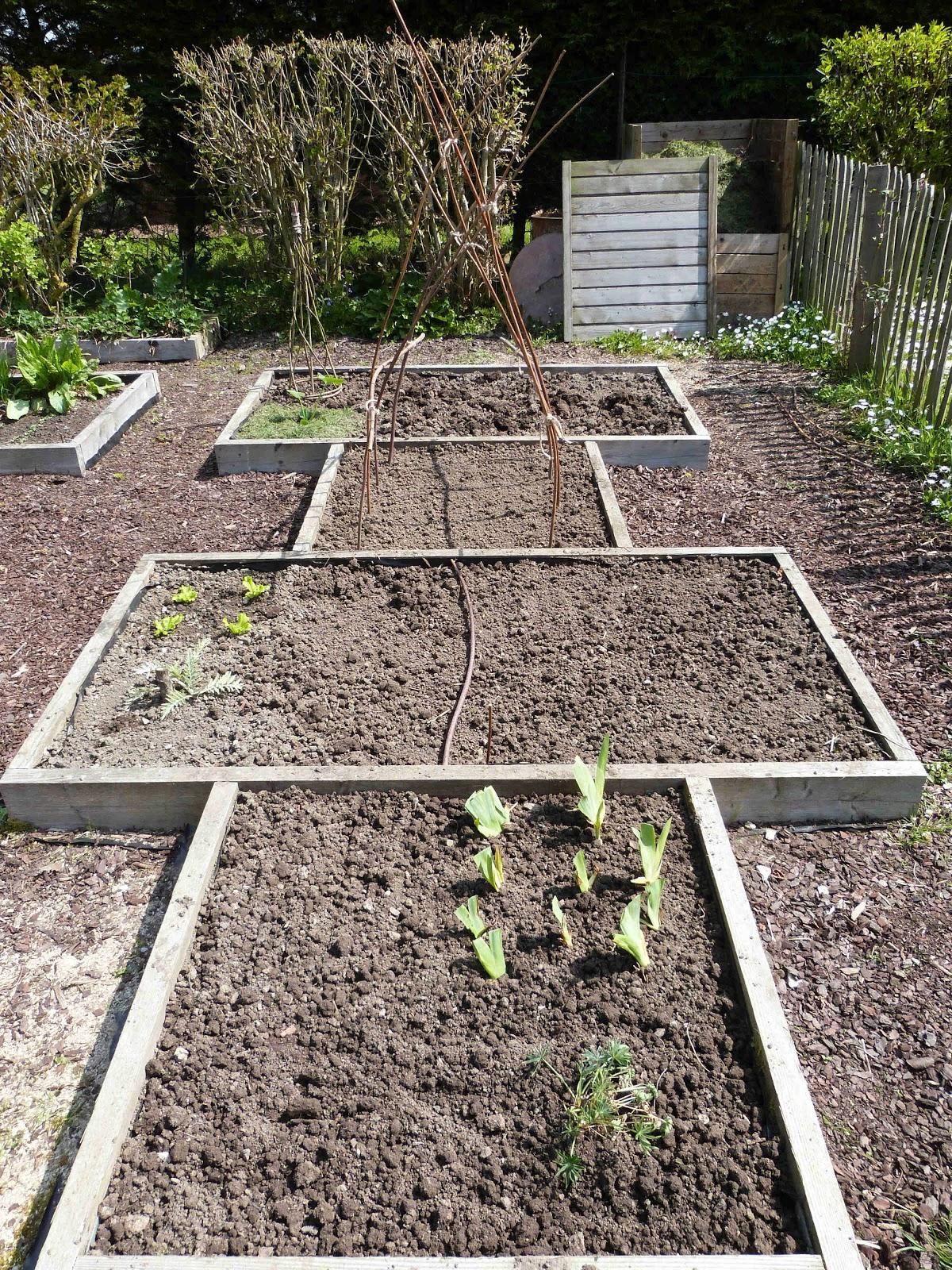 on verra au jardin les carr s du potager se remplissent. Black Bedroom Furniture Sets. Home Design Ideas