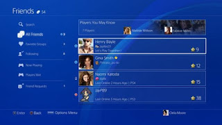 Sony friend request