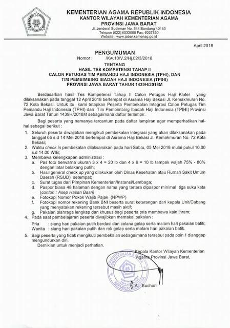 Inilah Petugas Haji 1439H/2018M dari Majalengka, Selamat