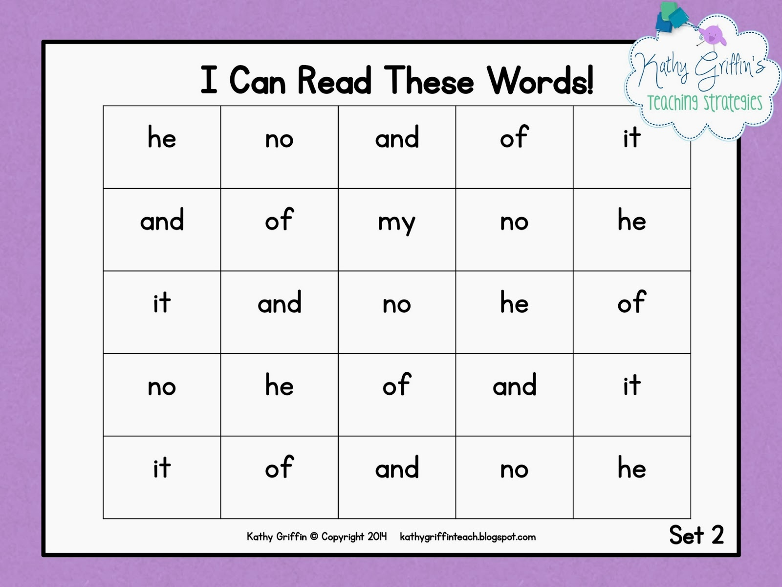 Kathy Griffin S Teaching Strategies Groovy Sight Word