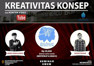 Seminar video Youtube Jakarta gratis