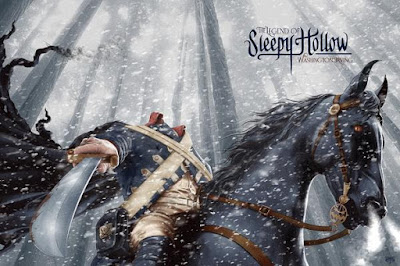 The Legend of Sleepy Hollow Screen Print by Mike Saputo x Bottleneck Gallery