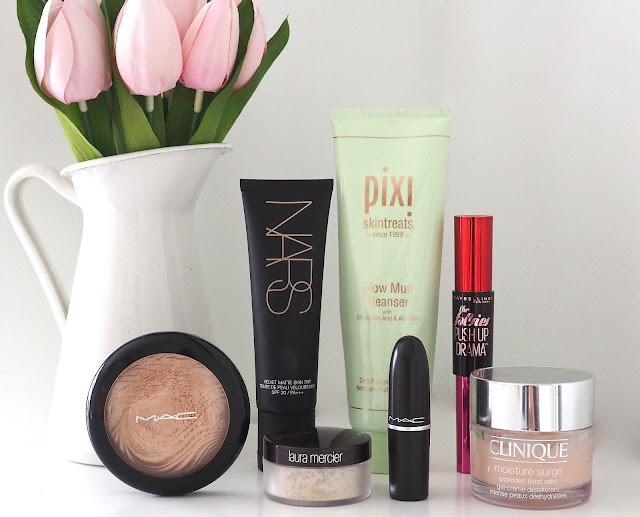 Nars Velvet Matte Skin Tint, Pixi Glow Mud Cleanser