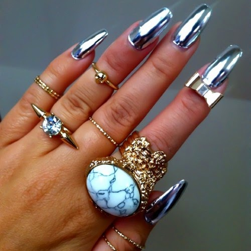 25 Most Awesome Mirror and Metallic Nail Art Ideas ...