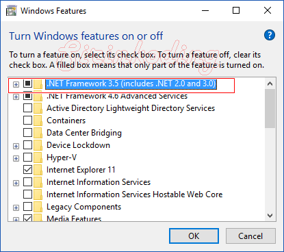 1603 error installing microsoft r net framework windows 10