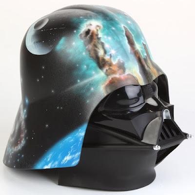 Artist-Embellished Darth Vader Helmets