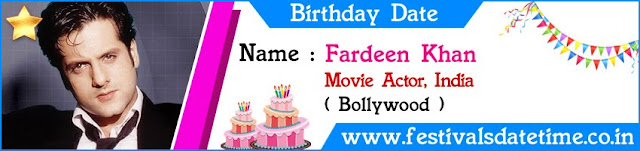 Fardeen Khan Birthday Date
