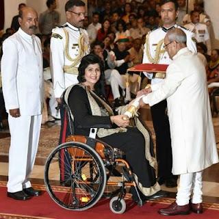 Deepa Malik disability, story, paralympics 2016, husband, family, vistara, life story, rio, daughter, accident, biography, age, wiki