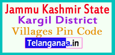 Kargil District Pin Codes in Jammu Kashmir