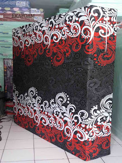 Kasur inoac motif minimalis savoy hitam