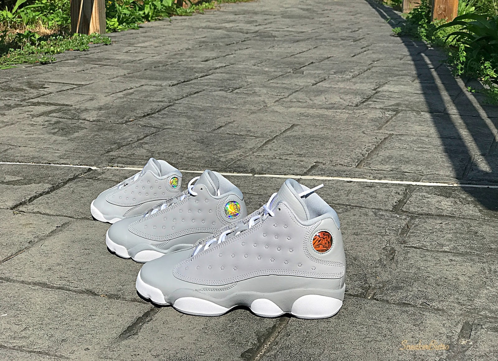 97f924706add11 Air Jordan Retro 13 Wolf Gray White-Deadly Pink