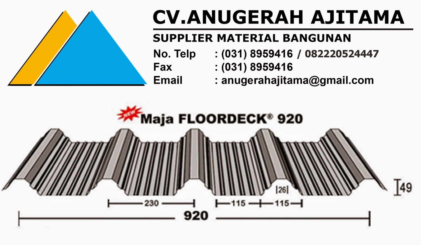 PRODUK NEW MAJA FLOORDECK 920