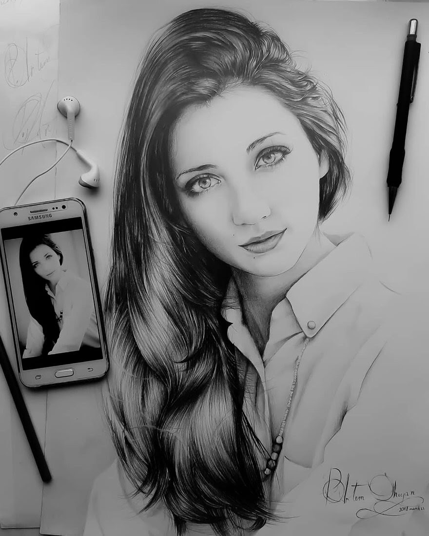 01-Artem-Mcalister-Realistic-Portraits-Graphite-and-Charcoal-www-designstack-co