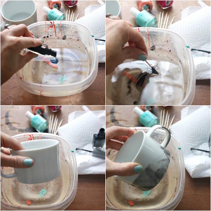 DIY Canecas coloridas com esmalte