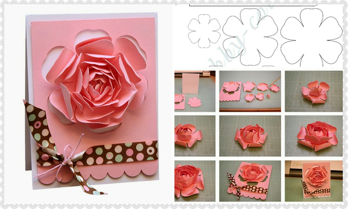 How To Make Greeting Card With Rose Crazzy Craft