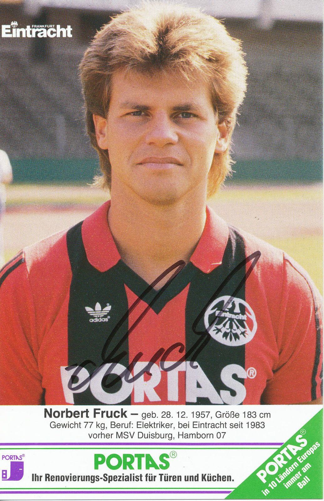Astounding Elektriker Frankfurt Gallery Of Football Exchange: Eintracht - Eintracht Autogrammkarten (1985-86)