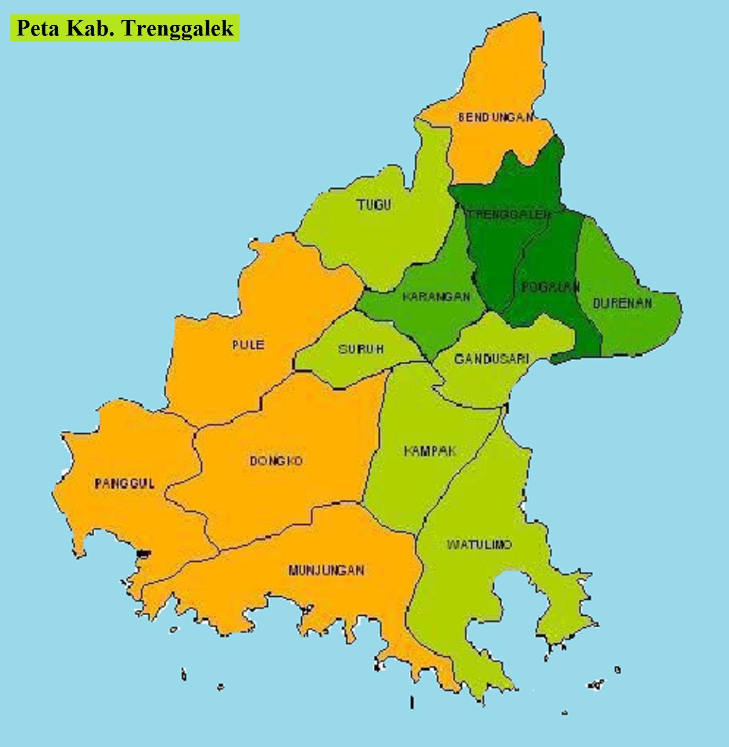 Peta Kabupaten Trenggalek
