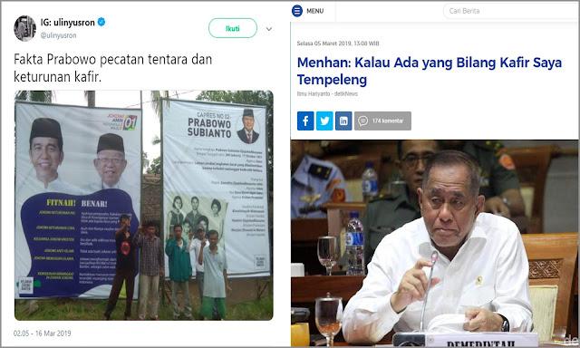 Pak Menhan Ryamizard, Pendukung Jokowi Ada Yang Bilang Kafir Nih, Tempeleng Dong