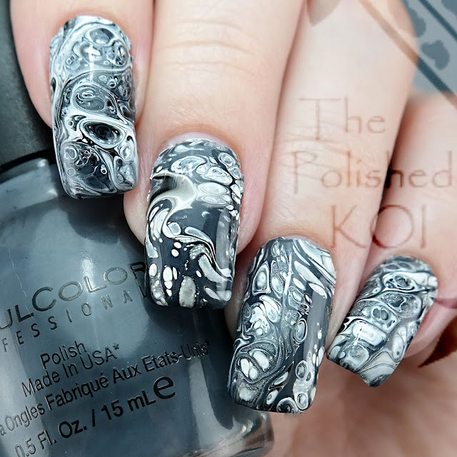 Grey Fluid Art Sinful Colors Transforming Topcoat