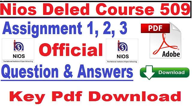 nios deled course 509 answer paper 2018 pdf download