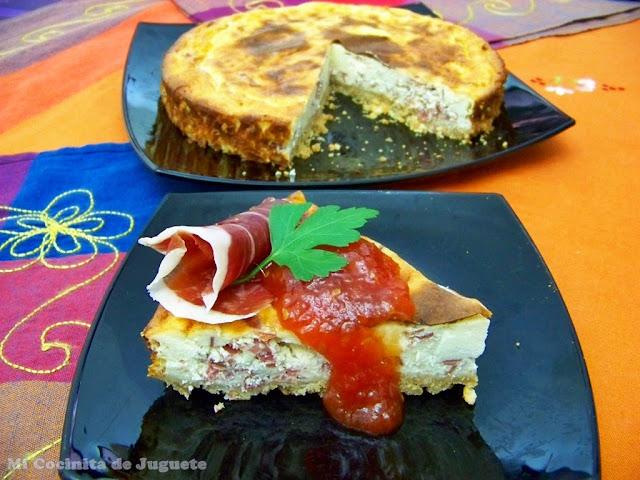 Tarta de Queso Salada con Jamón de Jabugo