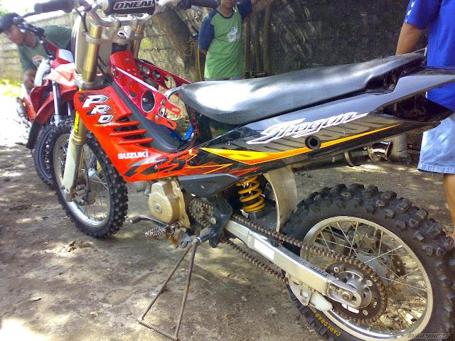 Cara dan Gambar Modifikasi Shogun 110 Jadi Trail Dan  Racing Look