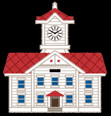 札幌市時計台のイラスト