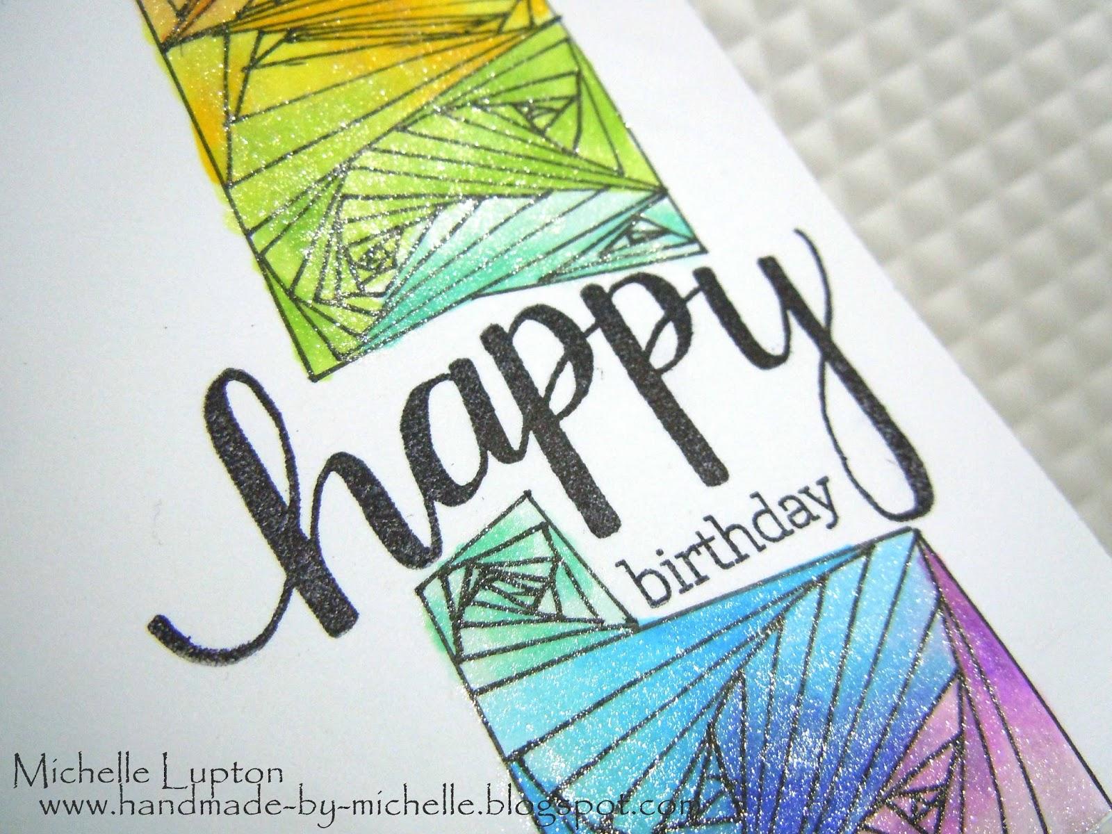handmademichelle zendoodle birthday card