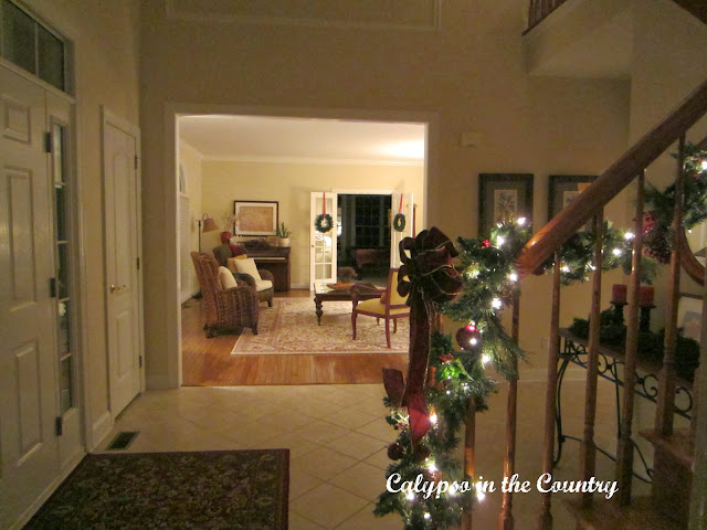 Christmas Foyer with lights