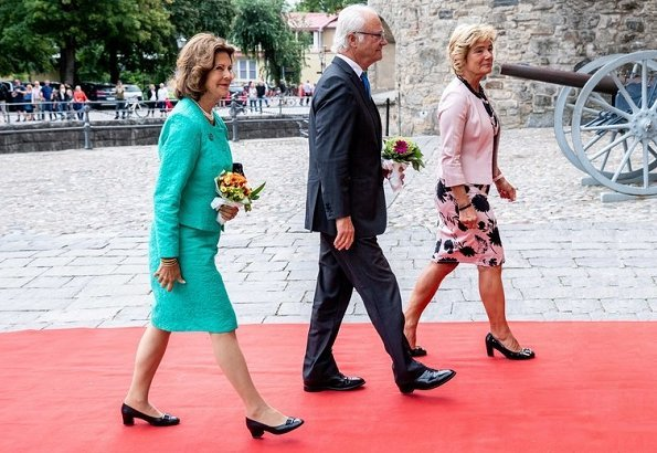 King Carl Gustaf and Queen Silvia attended the Coronation Year 1818 Symposium arranged by the Bernadotte Society at Örebro Castle