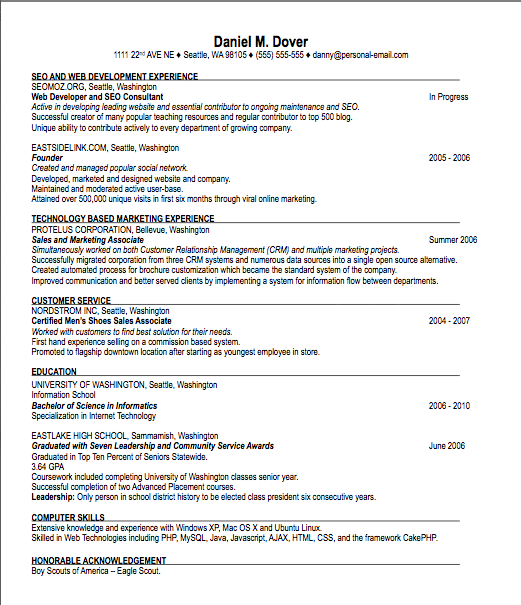 Resume Basics Examples. Basic Resume Template 51 Free Samples