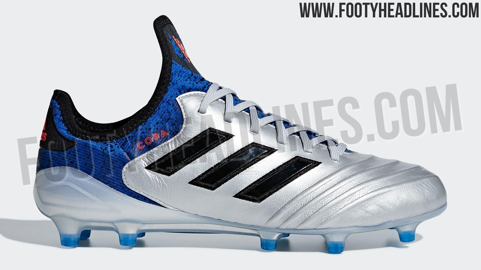 size 40 b3e64 56abd Adidas Copa 18.1 - Silver Metallic  Black  Football Blue