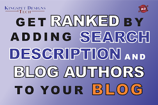 How to Add Search Description and New Blog Author to Your Blog