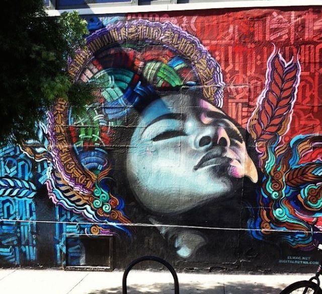 Grafiti Terbaik 2015 - lukisan dinding cewek cantik, grafifi gadis imut, grafiti 3D